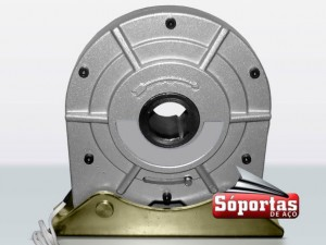 Trava anti-queda para portas de aço automatizada