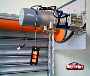 Motor eletrico para porta de aço